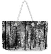 Forest Black And White Weekender Tote Bag