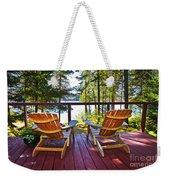 Forest Cottage Deck And Chairs Weekender Tote Bag
