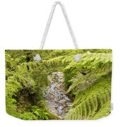 Forest Creek In Lush Rainforest Jungle Of Nz Weekender Tote Bag
