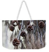 forest decoration - A pine tree give us a natural autumn decoration  Weekender Tote Bag