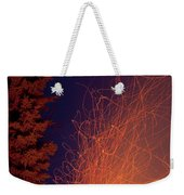 Forest Fire Danger Hot Spark Trails From Campfire Weekender Tote Bag