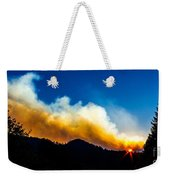 Forest Fire Sunset Weekender Tote Bag