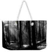 Forest Light In Black And White Weekender Tote Bag