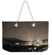 Forest Of Stars Above The Chapel On The Rock Sepia Weekender Tote Bag