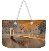 Forest Park Bridge Infrared Weekender Tote Bag