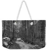 Forest Trail Bw Weekender Tote Bag