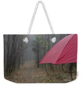 Forest With A Red Umbrella Weekender Tote Bag