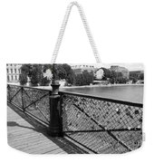 Forever Love In Paris - Black And White Weekender Tote Bag