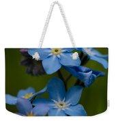 Forget Me Not Flower Weekender Tote Bag