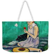 Forget Me Not... Weekender Tote Bag by Xueling Zou