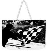 Formula 1 Vintage Checkered Flag Weekender Tote Bag