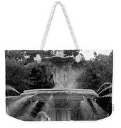 Forsyth Park Fountain - Black And White 2x3 Weekender Tote Bag