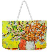 Forsythia And Cherry Blossoms Spring Flowers Weekender Tote Bag