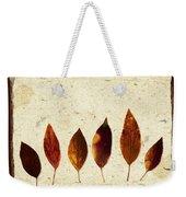 Forsythia Leaves In Fall Weekender Tote Bag