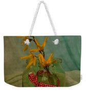 Forsythia Yellow Bells Weekender Tote Bag