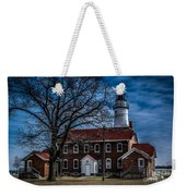 Fort Gratiot Lighthouse And Buildings With Clouds Weekender Tote Bag
