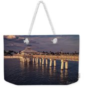 Fort Myers Beach Fishing Pier Weekender Tote Bag