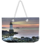 Fort Pickering Lighthouse At Sunrise Weekender Tote Bag