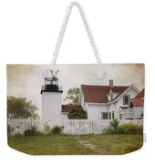 Fort Point Lighthouse Weekender Tote Bag by Joan Carroll