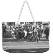 Fort Worth Herd Cattle Drive Weekender Tote Bag