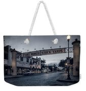 Fort Worth Stockyards Bw Weekender Tote Bag