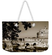 Fortress And Bridge In Sepia Weekender Tote Bag
