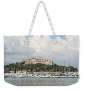 Fortress And Harbor - Cote D'azur Weekender Tote Bag