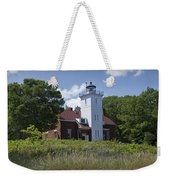 Forty Mile Point Lighthouse In Michigan Number 450 Weekender Tote Bag