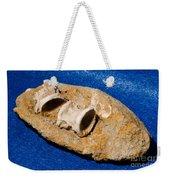 Fossil Fish Vertebrae In Rock Weekender Tote Bag