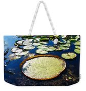 Foul Ball And The Lily Pads Weekender Tote Bag
