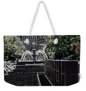 Fountain Abstract Weekender Tote Bag
