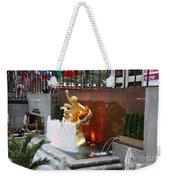 Fountain And Prometheus - Rockefeller Center Weekender Tote Bag