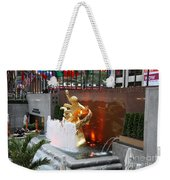 Fountain And Prometheus - Rockefeller Center Weekender Tote Bag