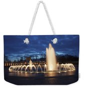 Fountain At Night World War II Memorial Washington Dc Weekender Tote Bag