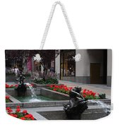 Fountain At Rockefeller Center Nyc Weekender Tote Bag