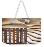 Fountain Stepped Concrete And Fence Weekender Tote Bag