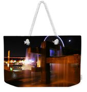 Fountain Foreground The Seattle Ferris Wheel Weekender Tote Bag