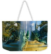 Fountain In Front Of A Building, Logan Weekender Tote Bag