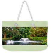 Fountain In The Park Weekender Tote Bag