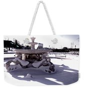 Fountain In The Snow Weekender Tote Bag