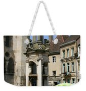 Fountain On The Market Place Autun Weekender Tote Bag