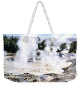 Fountain Paint Pot Yellowstone Np Weekender Tote Bag
