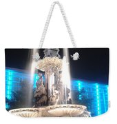 Fountain Square At Night Weekender Tote Bag