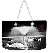 Fountain Swan Weekender Tote Bag by Shane Holsclaw