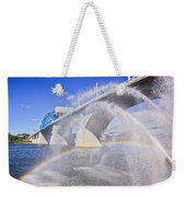 Fountains And The Market Street Bridge Weekender Tote Bag by Tom and Pat Cory