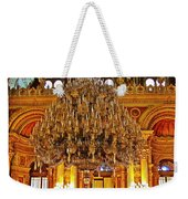Four And One-half Ton Crystal Chandelier In Ceremonial Hall In Dolmabache Palace In Istanbul-turkey  Weekender Tote Bag