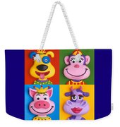 Four Animal Faces Weekender Tote Bag