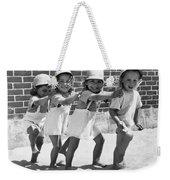 Four Little Girls Having Fun Weekender Tote Bag