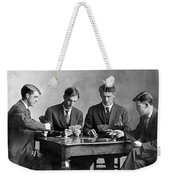 Four Men Playing Cards Weekender Tote Bag