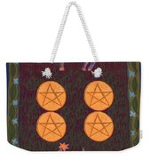 Four Of Pentacles Weekender Tote Bag